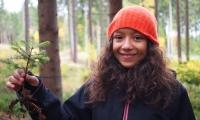 Foto_Schullandheim 2013-10-23_Mädchen6eWald